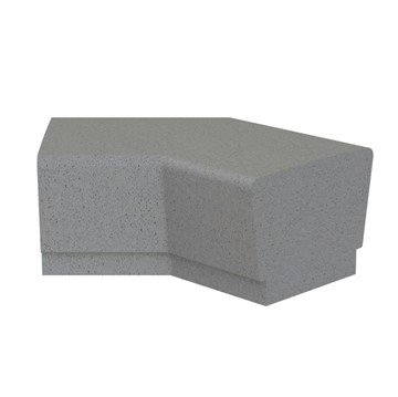 Our Town Sectional Concrete 45° Corner Bench