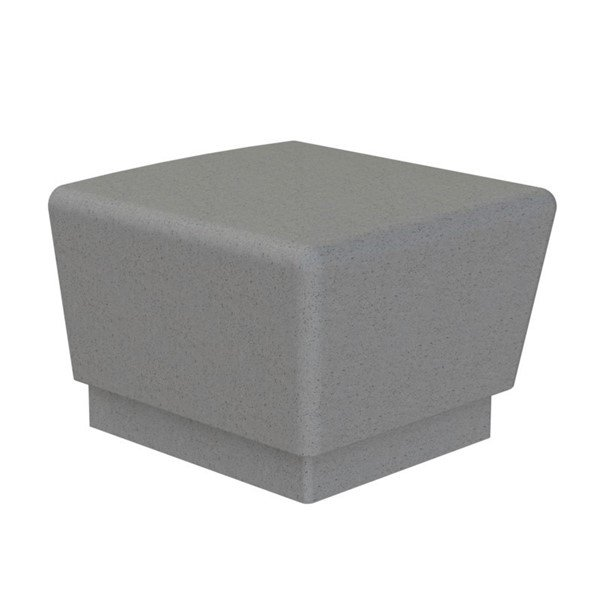Our Town Sectional Concrete Bench End - 2 ft.