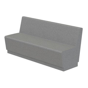 Our Town Sectional Concrete Bench with Back
