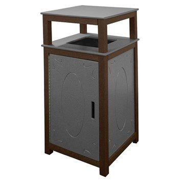 32 Gallon Decorative Recycled Plastic Trash Receptacle