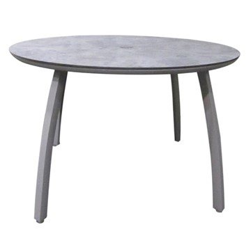 Sunset Round Aluminum Patio Dining Table