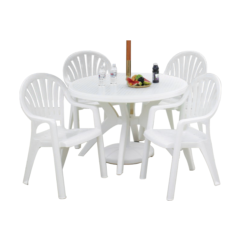 Plastic Resin Tables and Chairs Package Classic Dining Set ...
