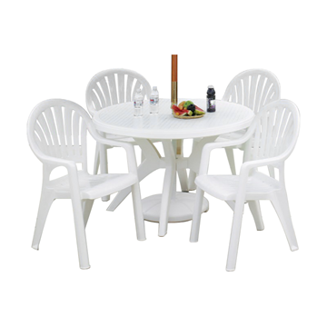 Plastic Resin Tables and Chairs Package Classic Dining Set