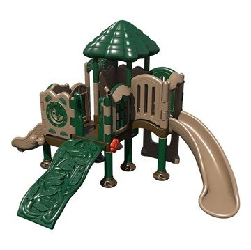 Discovery Center 5 Playground Set Made from HDPE Plastic - Ages 2 to 5 Years - Front