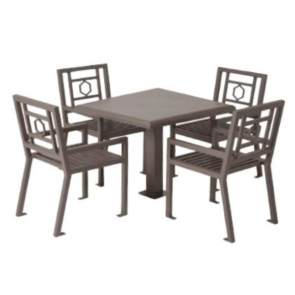 "Biscayne 36"" Steel Patio Table and Chair Set"