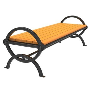 Gateway Recycled Plastic Bench with Cast Aluminum Frame