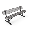 RHINO 6 ft. Thermoplastic Polyolefin Coated Bench with Back