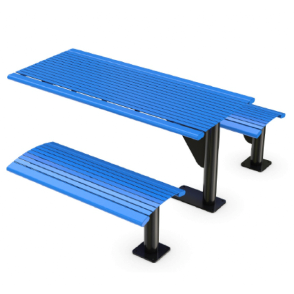 Arches 6 Ft. Steel Cantilever Table with 4 Ft. Detached Benches