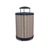 Arches 32 Gallon Recycled Plastic Trash Receptacle
