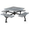 "46"" Square Classic Web Style Polyethylene Coated Steel Picnic Table"