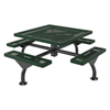 "46"" Square Web Style Polyethylene Coated Metal Picnic Table"