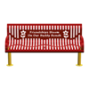 6 ft. Classic Wingline Thermoplastic Countroured Buddy Bench