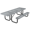 8 Ft. ADA Ultra Leisure Perforated Style Polyethylene Coated Steel Picnic Table with Single Side Wheelchair Access