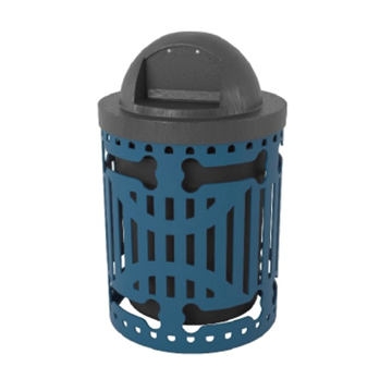 Dog Park 32 Gallon Classic Trash Can with Laser Cut with Bones Design