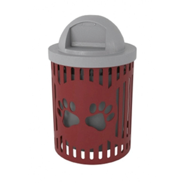 Dog Park 32 Gallon Classic Trash Can with Laser Cut with Paws Design