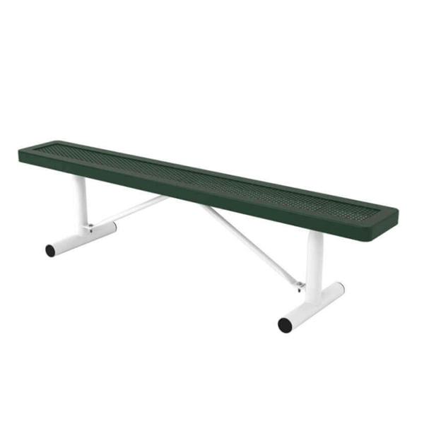 Innovated Style Polyethylene Coated Portable Backless Bench