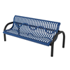 Modern Classic Style Polyethylene Coated Metal Bench