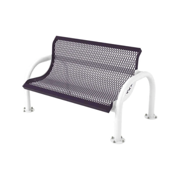 Modern Style Polyethylene Coated Metal Bench