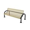 Modern Style Polyethylene Coated Metal Bench