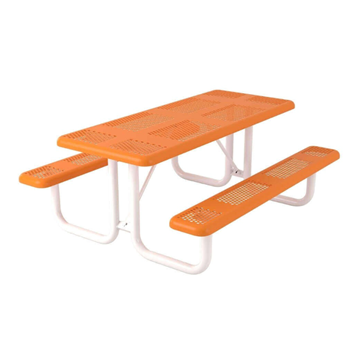 Perforated Style Polyethylene Coated Steel Picnic Table