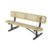 Perforated Style Polyethylene Coated Steel Portable Bench