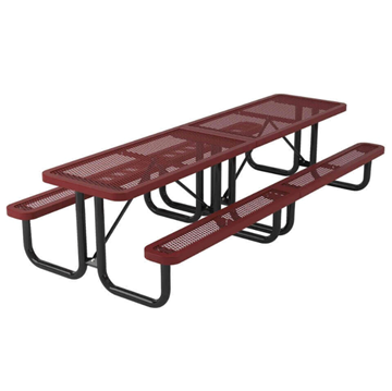 Regal Style 10 ft. Polyethylene Coated Metal Picnic Table