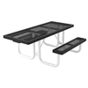 Regal Style ADA Compliant Polyethylene Coated Metal Picnic Table