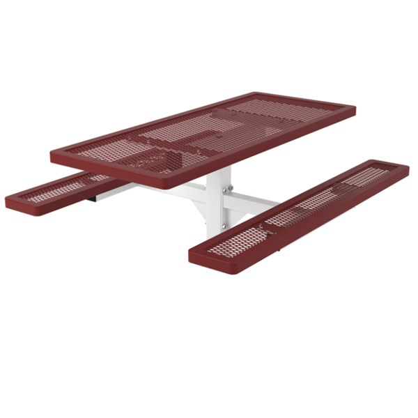 Regal Style Polyethylene Coated Metal Pedestal Picnic Table