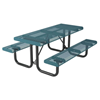 Rolled Style Polyethylene Coated Metal Picnic Table