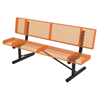 Rolled Style Polyethylene Coated Metal Portable Bench