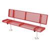 Rolled Style Polyethylene Coated Metal Stationary Bench
