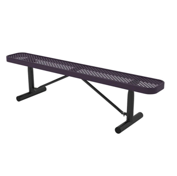 Ultra Leisure Perforated Style Polyethylene Coated Steel Portable Backless Bench