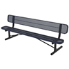 Ultra Leisure Perforated Style Polyethylene Coated Steel Portable Bench