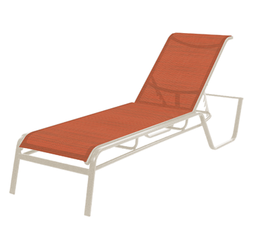 Monterey Chaise Lounge - Commercial Aluminum Frame with Sling Fabric