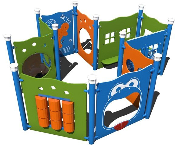 Imagination Station Playhouse Made from Recycled Plastic - Ages 6 Months to 2 Years