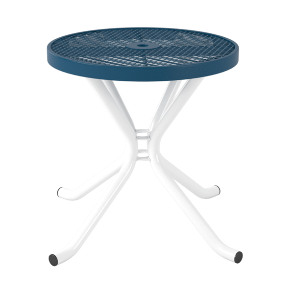 Round Expanded Metal Thermoplastic Coated Portable Cafe Table