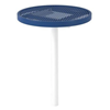 """30"""" Round Expanded Metal Thermoplastic Coated Bar Height Cafe Table"""