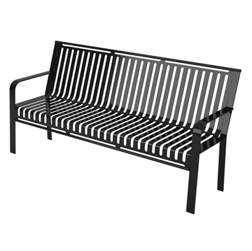 Metro Portable Steel Bench with Back