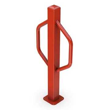 2 Space Hex Post Powder Coated Steel Bike Rack