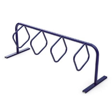 8 Space Triangular Hoop Powder Coated Steel Bike Rack