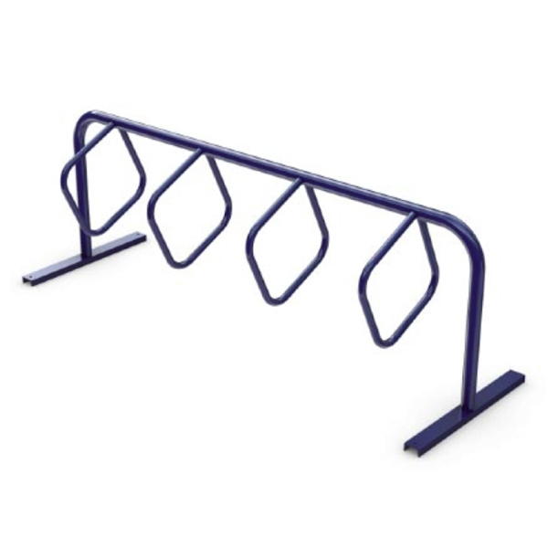 8 Space Triangular Hoop Powder Coated Steel Bike Rack