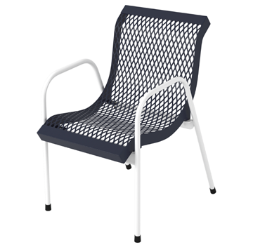 Modern Stackable Polyethylene Coated Expanded Metal Patio Chair
