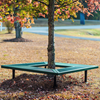 Thermoplastic Coated Expanded Metal Geometric Bench