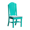 Adirondack Recycled Plastic Dining Chair with Armless Frame