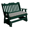 Royal English Recycled Plastic Glider Bench