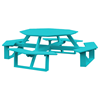"""54"""" Poly Recycled Plastic Octagon Walk-In Picnic Table"""