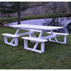 8 ft. Poly Recycled Plastic Rectangular Walk-In Picnic Table