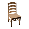 Ladderback Recycled Plastic Dining Chair with Armless Frame