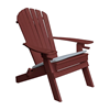 Recycled Plastic Adirondack Chair with Two Cup Holders and Folding Frame