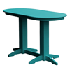 Oval Recycled Plastic Bar Table